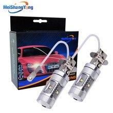 2pcs H3 Led Bulb 30W Cree Chip car light 6000K White High Power Car Fog Light Running Light Bulb auto parking 12V цена 2017