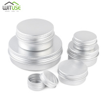 5g-100g Empty Aluminum Jars Refillable Cosmetic Bottle Ointment Cream Sample Packaging Storage Box Containers Screw Cap 3g cream galley proof bottle box on trial dress transparent cjb01 empty cans cosmetic sample containers cjb01