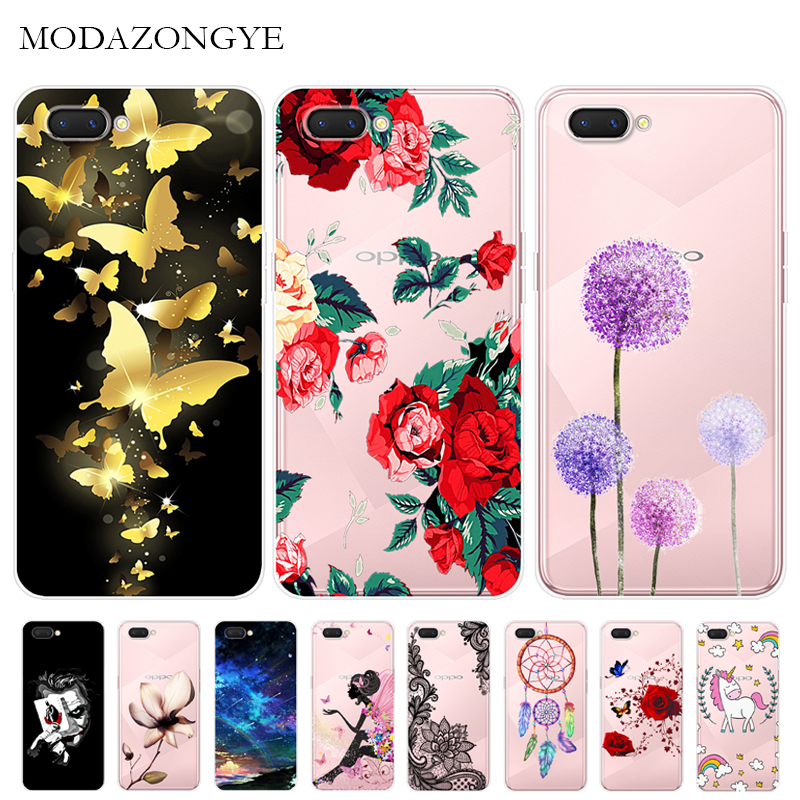 Cartoon Soft Case Oppo A3s Case Silicone Back Cover Phone