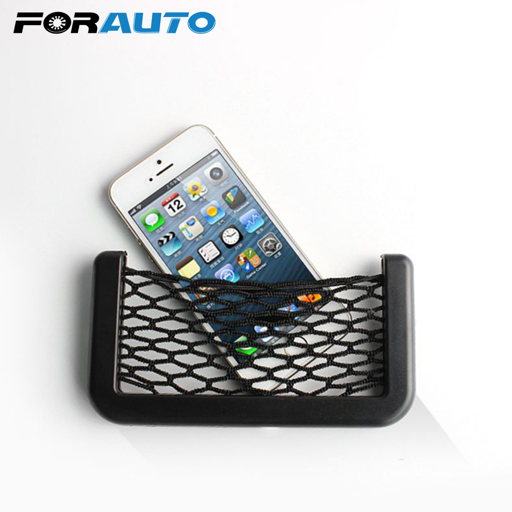 Car Truck Organizer Cigarette Phone Holder Net Organizer Pocket Seat Back Storage Bag Organizer Stowing Tidying Accessories