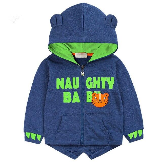 2-9 Лет детский clothing мальчики Динозавров Балахон хлопка мультфильм Зима дети пальто Куртки мальчики толстовки малыша толстовка