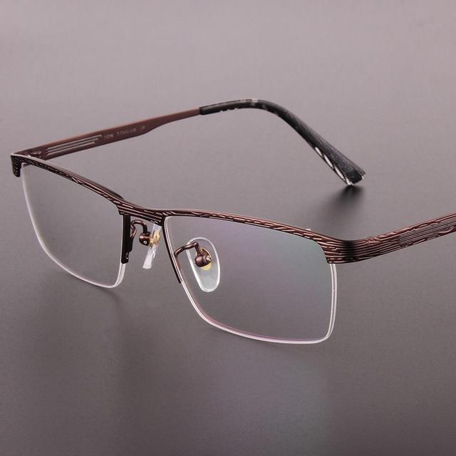 El nuevo medio de la moda gafas de montura negra enmarcan pure titanium enmarcan gafas hombres prescription eyewear 9923