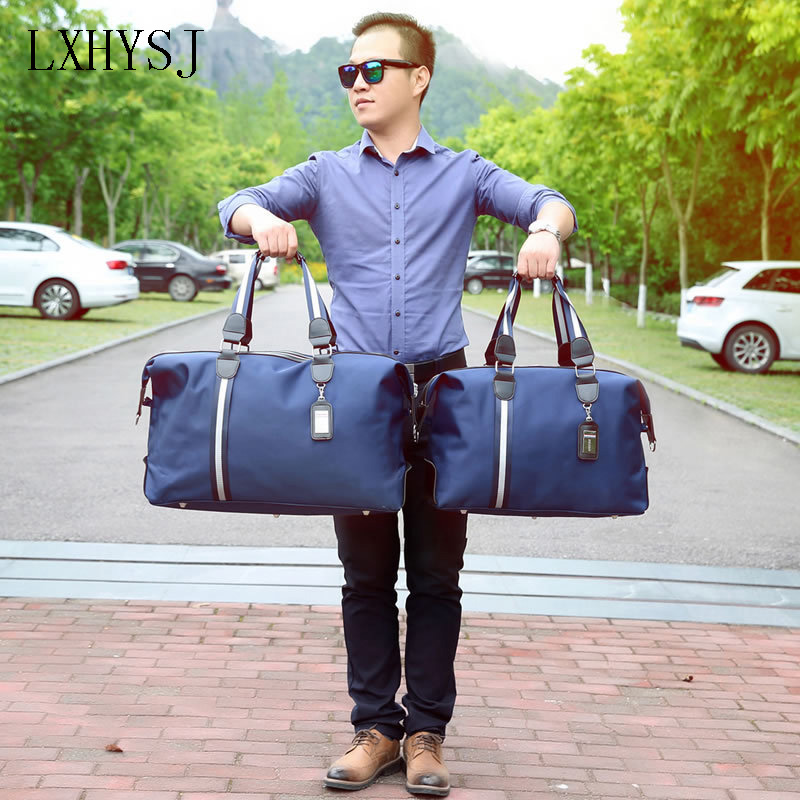 The New Nylon Travel Bag Large Capacity Women Hand Luggage Travel Duffle Bags Nylon Weekend Bags Men Multifunctional Travel Bags