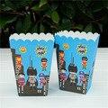 Коробка для конфет 12 шт./24 шт. коробка для попкорна супергероев детский подарок на день рождения принадлежности для украшения вечерние