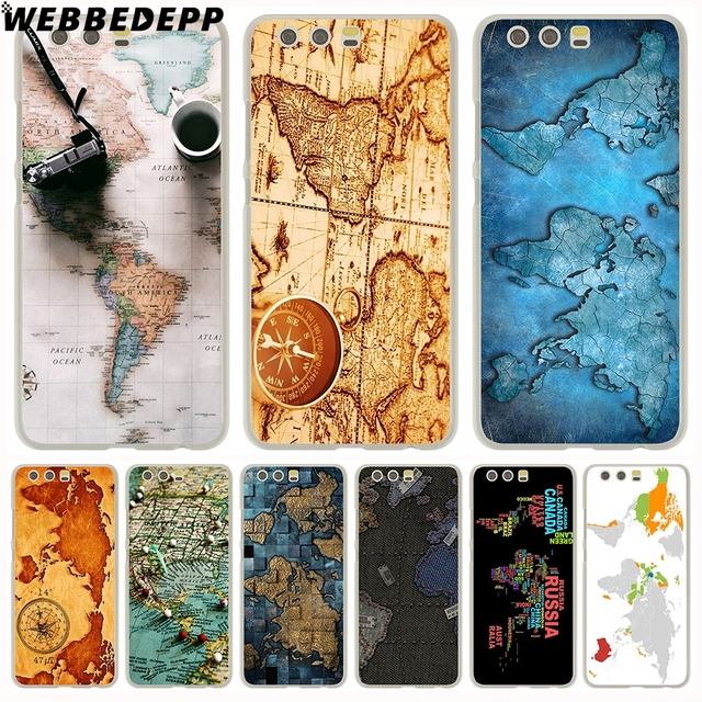 cheap for discount 8c792 a2ca7 US $1.88 6% OFF|WEBBEDEPP World Map Travel Plans Phone Case for Huawei P20  Pro P smart 2019 Y7 Y9 2018 P10 P9 Lite 2016/2017 P8 Lite 2017-in ...