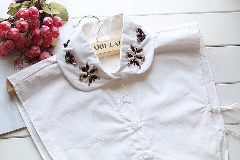 Cotton shirt collar false collar female decorative hollow square womens fashion false necklace new arrival apparel accessaries