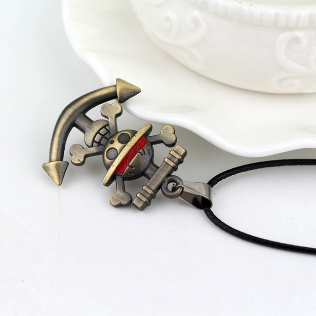 Anime One Piece Skull Logo Pendant Necklace