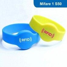 RFID Браслет, RFID браслет Силиконовый Тег для бассейна с MF1 S50 (ФУДАНЬ) Чип Бесплатная Доставка