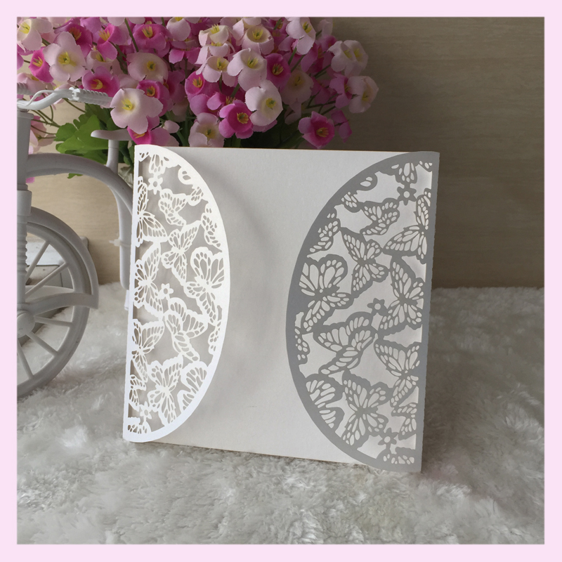 50pcs Carved Pretty Beautiful Erfly Wedding Invite Dinner Invitation Collection Rsvp Card Greeting Wishing