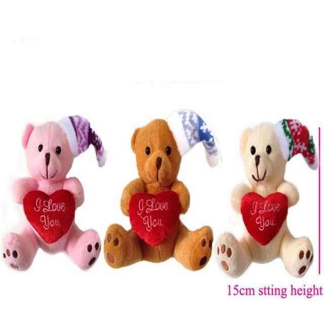 Cm peluche Orso orsacchiotti 15 Simpatici di con natalizio pezzi 10 cuore LqzpUVjGSM