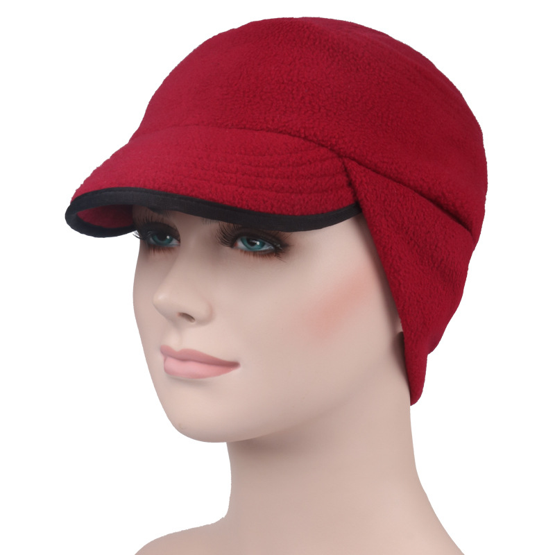 Multi function Windproof Warm Men   Women Running Hat Ear Protection Fleece  Cycling Skiing Cap Winter Sports Hats For Women-in Running Caps from Sports  ... d252889a800