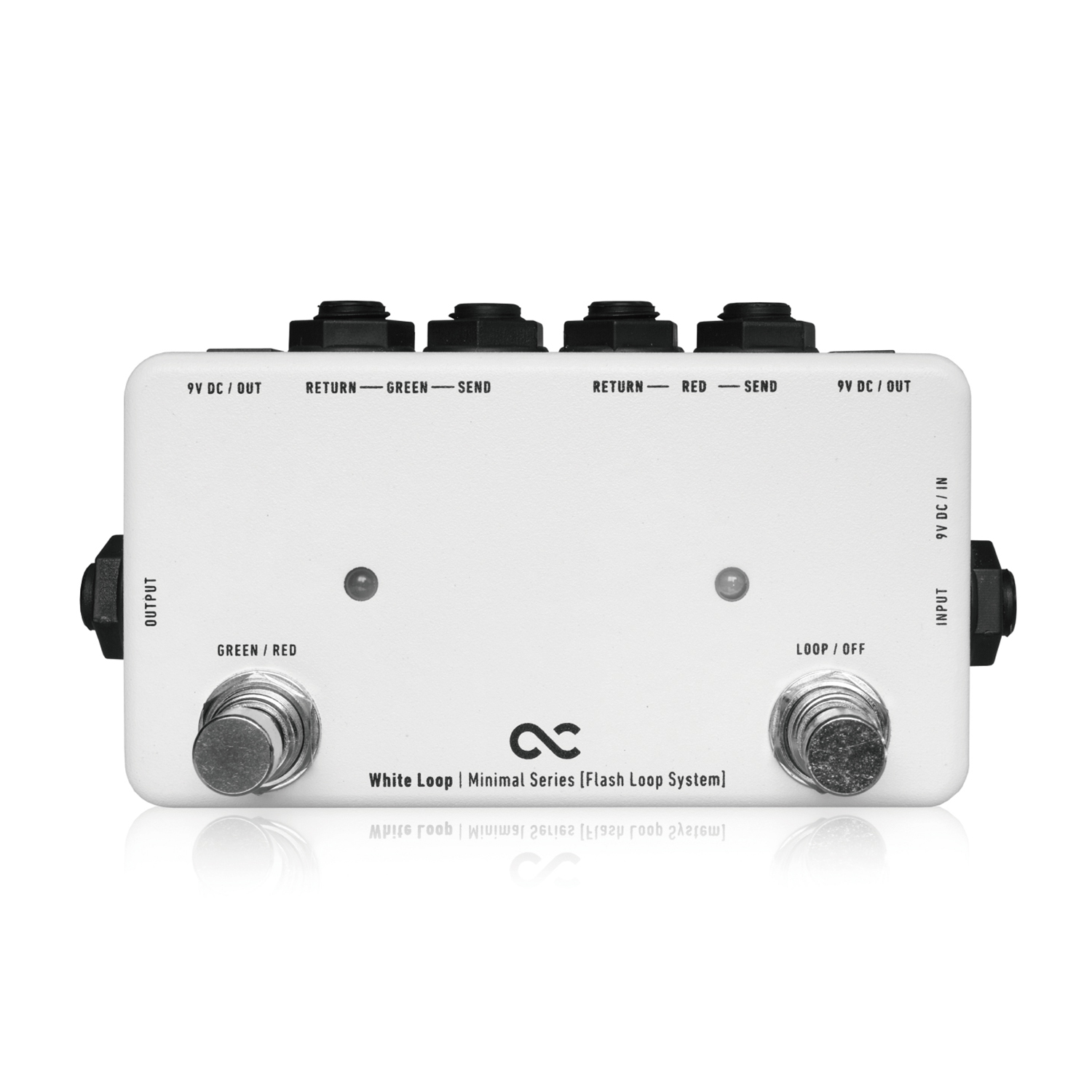 Japan One Control White Loop Guitar Effect Pedal Two Loop Line Selector Switching Minimal Series True Bypass DC Outs Flash Loop japan one control bjf little copper chorus guitar effect pedal