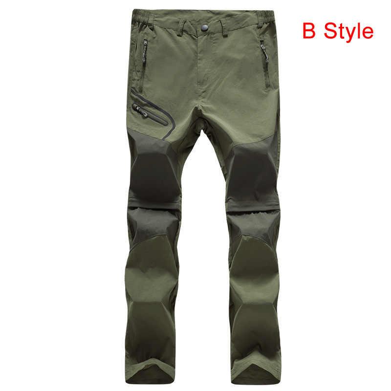 848e4a988a ... Thin Hiking Pants Men Summer Outdoor Waterproof Quick dry fishing pant  tactical pocket pants Camping mountain