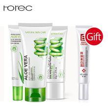 ROREC Aloe vera Most Effective Anti-Aging skin Care Set Eye Serum Natural Vera Smooth Gel Collagen Repair Facial Cleanser