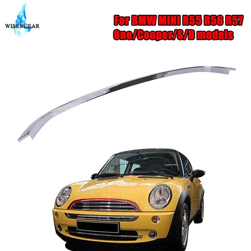 Garniture de capot de capot avant WISENEGAR couvercle de gril de bande de Chrome pour BMW Mini R55 R56 R57 One Cooper S D JCW JWC Clubman hayon/