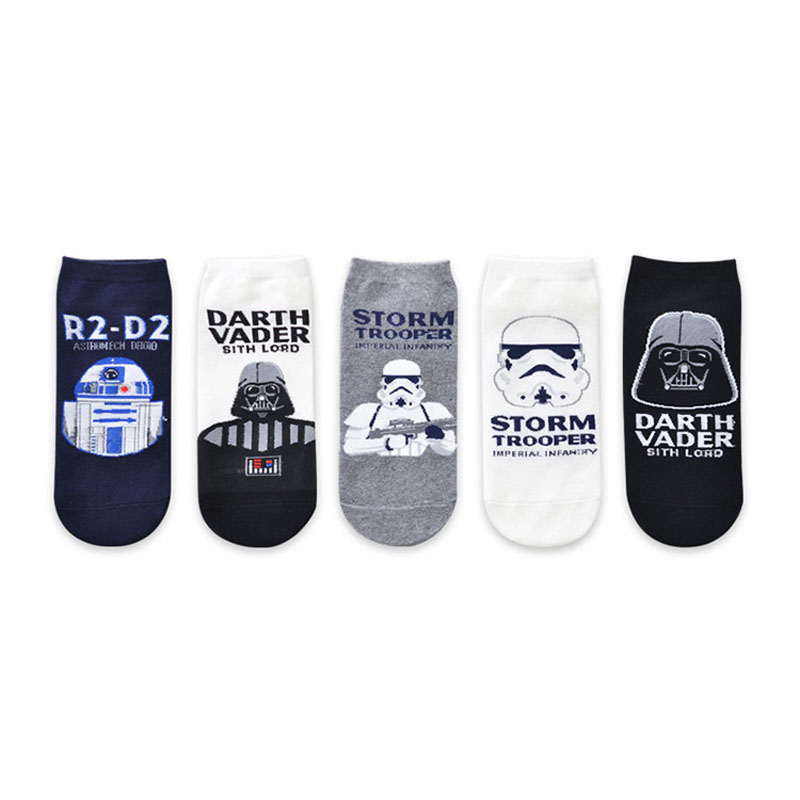 10pairs/lot Summer New Male Comics Star Wars Cartoon Socks harajuku Black Warrior Person ...