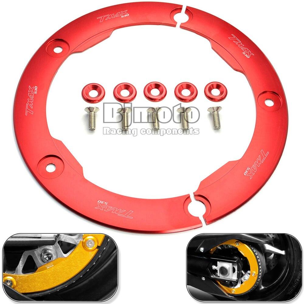 BJMOTO Новый Красный мотоцикл части ЧПУ Алюминиевый коробка передач Ременный Шкив Защитная Крышка для YAMAHA T максимальный 530 2012-2015