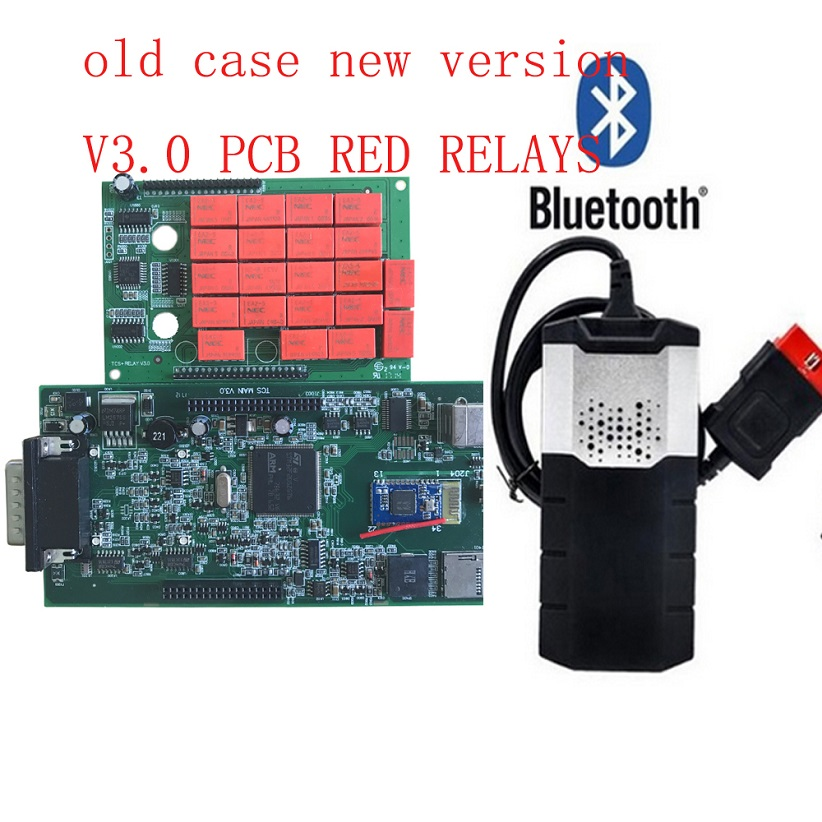 Free shipping V3.0 pcb New VCI 5 pcs/lot CDP PRO NEC relays bluetooth VD ds150e CDP PRO Diagnostic scanner Tool for delphis-in Car Diagnostic Cables & Connectors from Automobiles & Motorcycles on