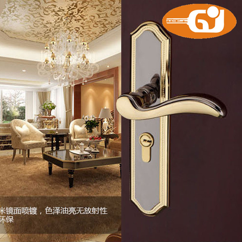 Europe Style Full Zinc Alloy Lever Door Handle Lock For Interior Wooden Door t art блузка