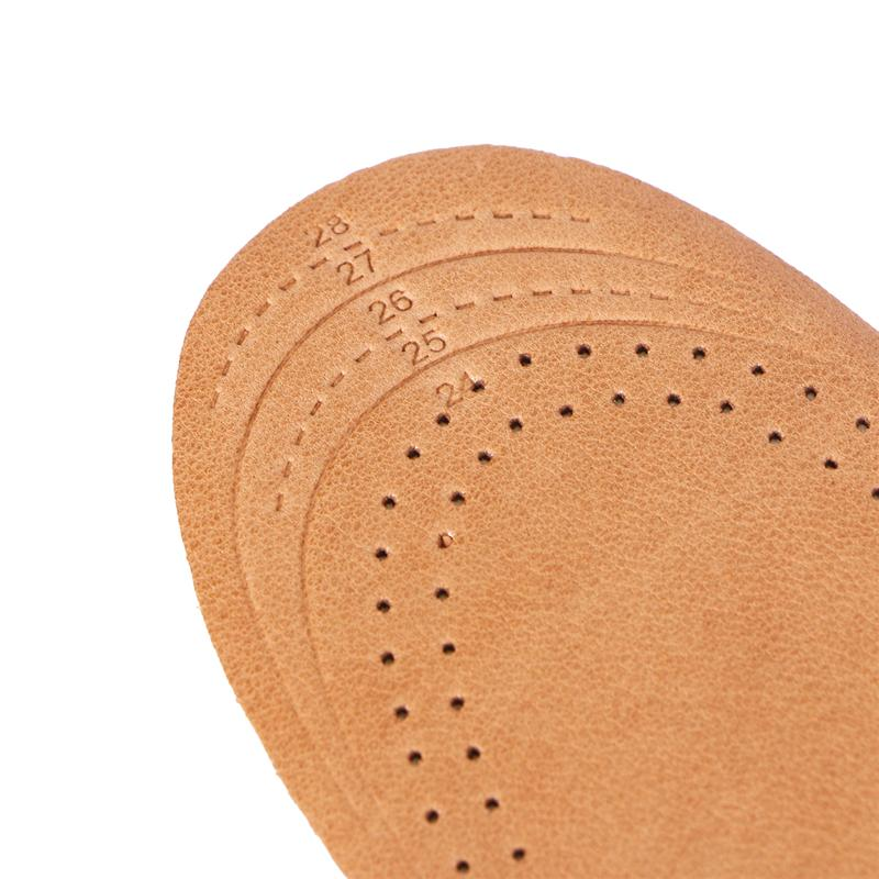 Pair of Soft Cabretta Leather Insoles for Kids Shoes Cushion Pad Feet Care Pain Relief Inserts for Kids Children (Size S)