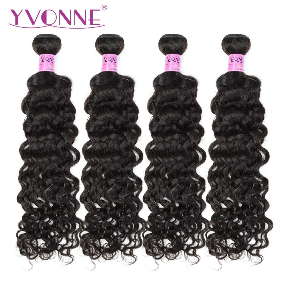 YVONNE Italien Bouclés Vierge Brésilienne Cheveux Bundles 4 pcs/lot Armure de Cheveux Humains Naturel Couleur 12-28 pouces Gratuite Livraison