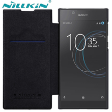 nillkin sFor Sony Xperia L1 Case & Card pack 5.5 inch Qin Series Flip Cover PU Leather Case For Sony Xperia L1