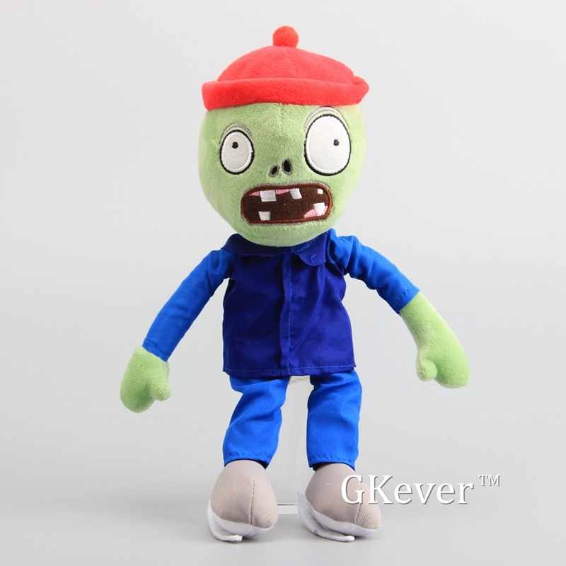 "Plants vs Zombies 2 PVZ Figures Skating Zombie Plush Baby Soft Stuffed Toy Doll 12"" 30 cm 1"