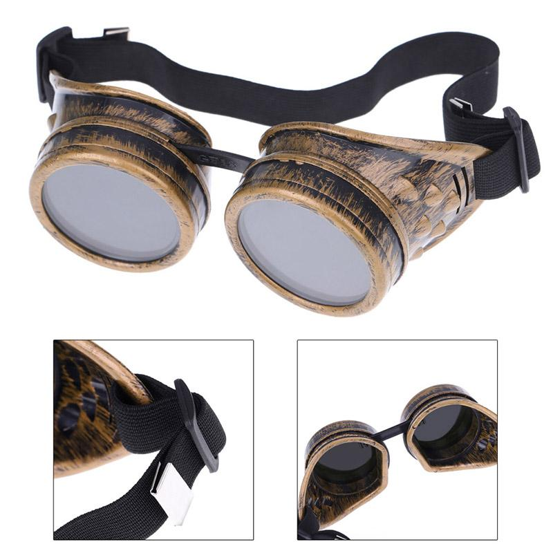 Steampunk Safety Goggles Steam Punk Windproof Vintage Welding Gothic Cosplay Lenses Protective Glasses