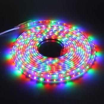 AC220V Led Strip Light 3014 SMD Multicolor 72 LED/M RGB IP65 Waterproof Flexible LED Tape 1M 2M 5M 10M Outdoor