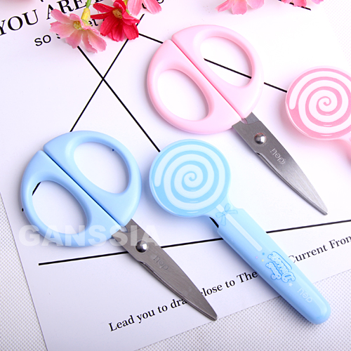 1pc Kawaii Lollipop Style Scissors DIY Stationery Office Zakka Material School Student Scissor Paper Lace Supplies (ss-1551)
