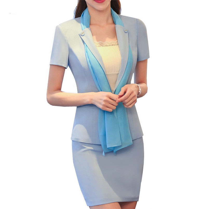2017 summer slim office uniform designs woman business for Office uniform design 2016