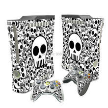 Skin For Xbox 360 Fat Console Cover For Xbox 360 Console Skin Stickers+ 2Pcs Controller Protective Skins Accessory