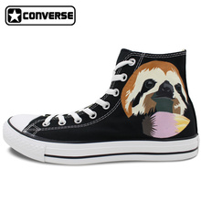 High Top Canvas Shoes Women Men Converse Chuck Taylor Cute Sloth Original Design Custom Hand Painted Sneakers Christmas Gifts