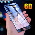 WLMLBU 6D Full Cover Edge Tempered Glass For iPhone X 7 8 6 Plus Screen Protector For iPhone 6 6s 7 8 Plus Film Protection Glass