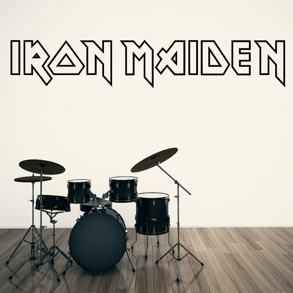 aliexpress com buy special calligraphy quotes iron maiden logo aliexpress com buy special calligraphy quotes iron maiden logo vinyl wall mural living room house decoration art design removable wallpaper y 854 from