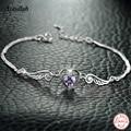 Angel Wings Pendant Heart Shape Bracelets for Women 925 Sterling Silver Charm Bracelet Femme  Brand Ataullah BSW439