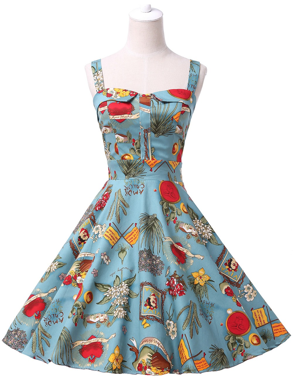 cffc7af4aecf2 Belle Poque Rockabilly Womens Summer Style Dresses 2017 robe Pin Up Retro  Vintage 50s Audrey Hepburn Swing Print Casual Clothing-in Dresses from ...