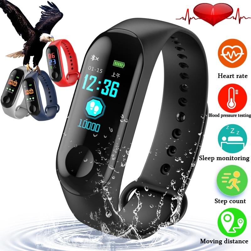 Delle Donne degli uomini Braccialetto Intelligente Bluetooth di Sport Orologio Da Polso Impermeabile Heart Rate Monitor di Pressione Sanguigna di Ossigeno Sonno Monitor PK Mi Fascia 2