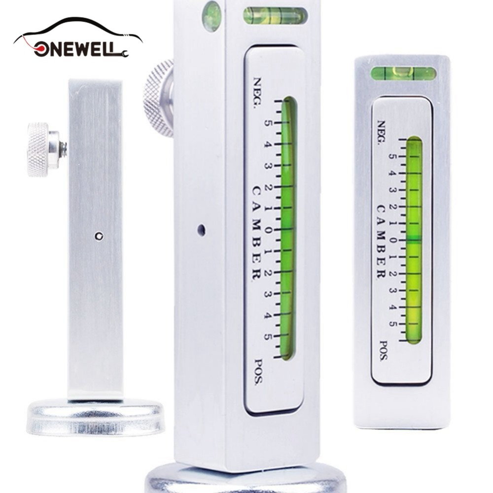 ONEWELL Universal Car Truck Magnetic Gauge Measure Tool for Auto Camber Castor Strut Wheel Alignment Tools
