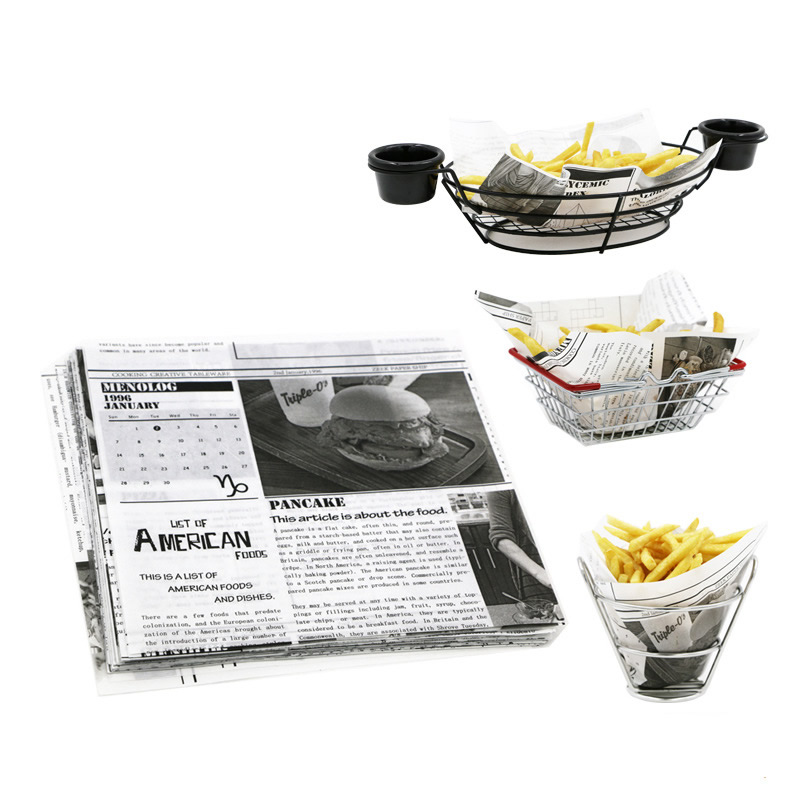 Food Grade Food Sheet Newspaper Design Food Grade Wax