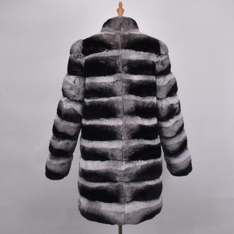 Capuche Véritable Gray Haute Avec Femmes Fourrure Frost Manteau Les Lapin Qualité Chinchilla Pour De Rex Manteaux wwO7HxSq