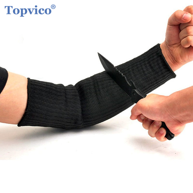 Topvico Stainless Steel Wire Cut Resistant Working Gloves Arm Wrist Protective Safety Gloves Metal Tactical Butcher Steel Gloves rebune cut resistant working gloves with stainless steel wire protective safety gloves metal tactical butcher steel glovesre8004