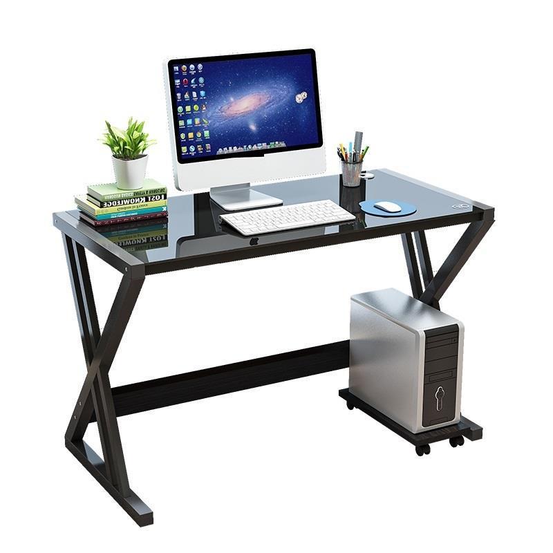 Простой современный компьютерный Home Student кровать, стол ноутбук закаленное Стекло стол