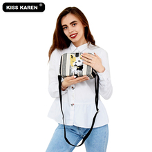 KISS KAREN Vintage Fashion Women Bag Jeans Women Shoulder Bags Luxury Handbags Denim Women's Crossbody Bags Tote Bag kiss karen floral lace women messenger bag vintage fashion studded denim bag women s shoulder bags summer jeans crossbody bags