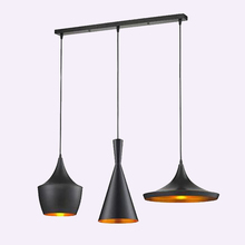 Hot! 1Set,Modern Pendant Lights (Tall/Fat/ Wide) Beat Musical Instrument Tom Dixon Hanging Lamp Light For Living Room