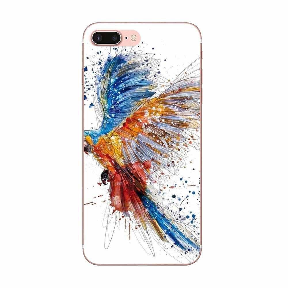 Для Galaxy A3 A5 A7 On5 On7 2015 2016 2017 Grand Альфа G850 Core2 Prime S2 I9082 прекрасный Пластик птицы на дереве Летающий
