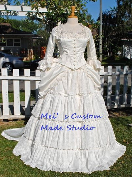 Custom Made 18th century Victorian Bustle Christine's Wedding Gown from Phantom of the Opera/Holiday Dress/Ball Gown
