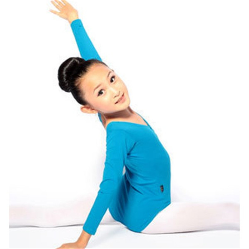 Kid Girls Long Sleeve Ballet Dance Dress font b Fitness b font Gymnastics Wear Leotard Costume