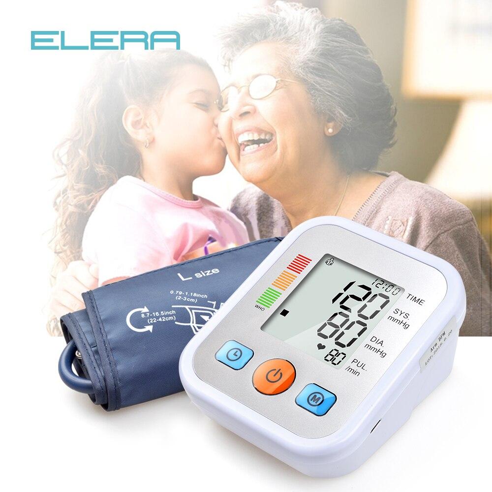 ELERA NEW digital LCD Monitor di Pressione Sanguigna nuovo tensiometro Automatico Misuratore digitale di Pressione Sanguigna Sfigmomanometro tonometro