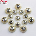Free Shipping 200Pcs 10mm/12mm 2C Pattern printing Imitation Pearl Round Half-face For Jewelry Making Craft ZZ86